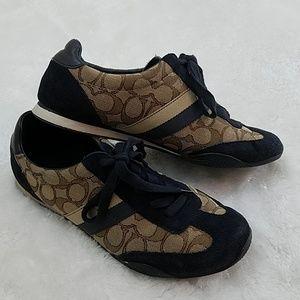Coach Kelson Sz 9 Khaki and Navy Sneakers